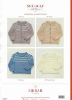 Sirdar Snuggly 100% Merino 4 ply Knitting Pattern Booklet - 5265 Cardigans & Sweaters